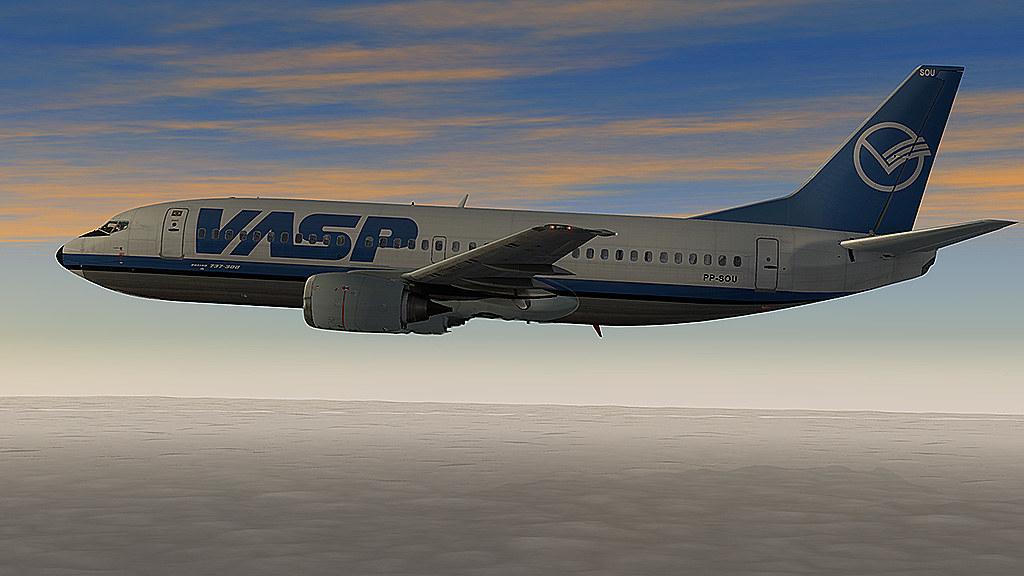 737-300 Vasp pousando em SBGL 26120344704_67548871d3_b