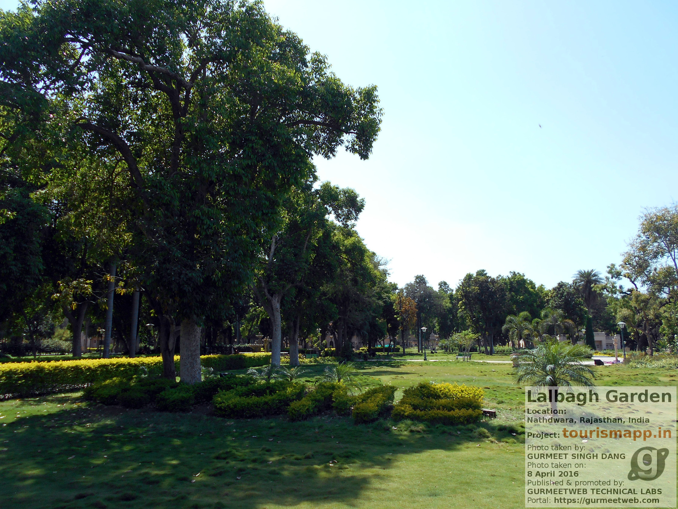 Lalbagh Garden in Nathdwara, Rajasthan, India