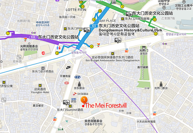 東大門歷史站地圖