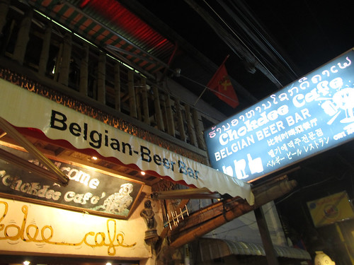 Vientiane: ça sent la Belgique par ici!. Mmmm les frites!!