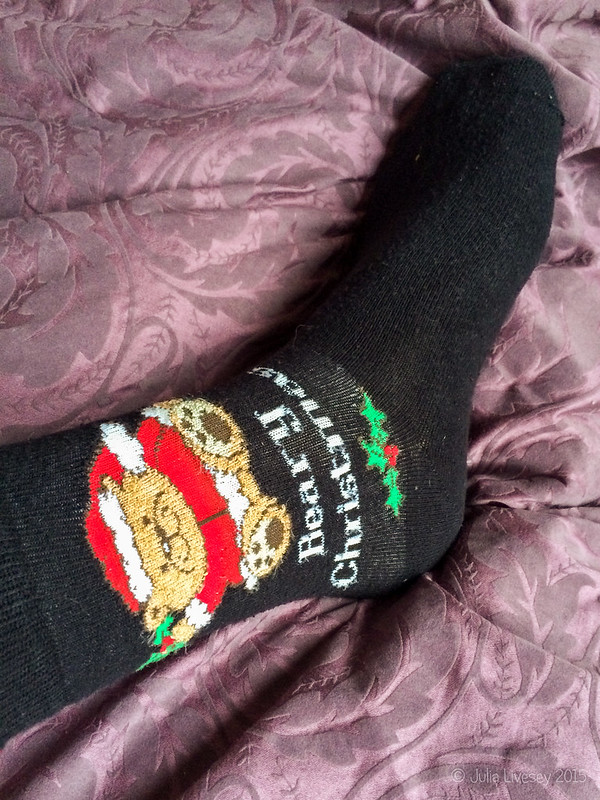 The Christmas socks are on