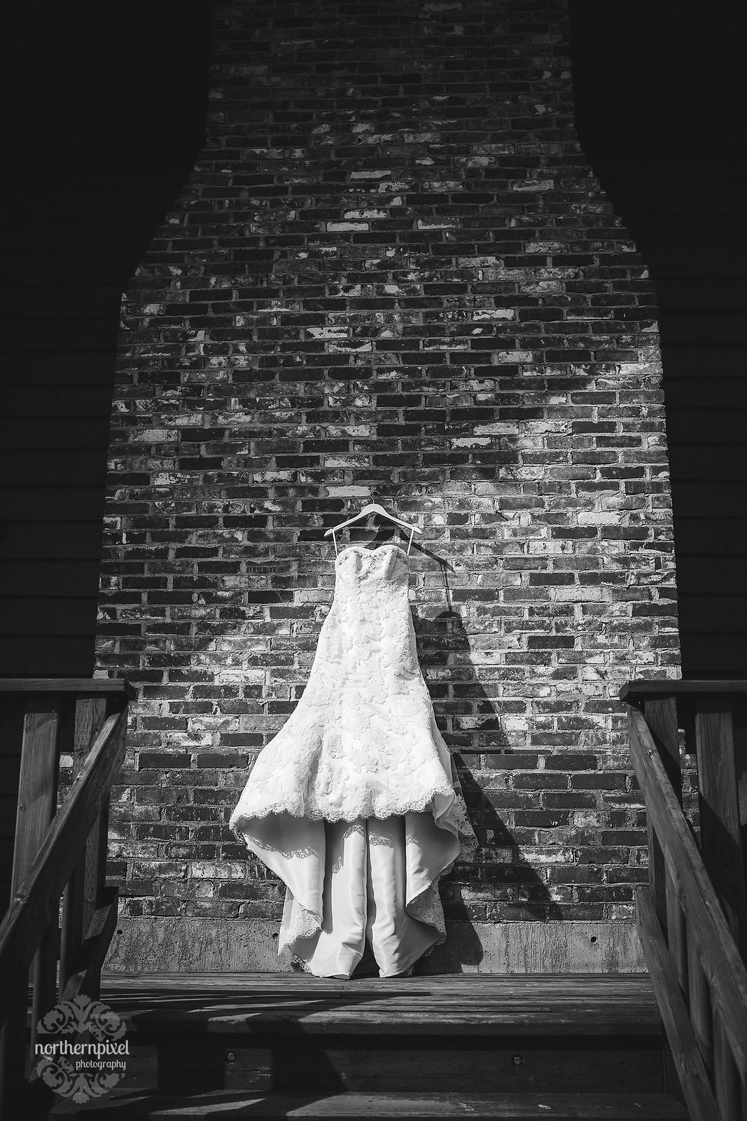 Glacier Inn Wedding - Girls Getting Ready Dress Gown