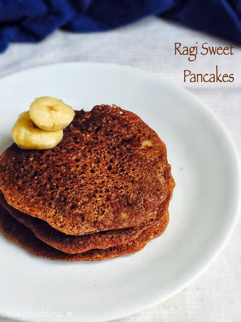 Ragi pancakes recipe for babies, toddlers and kids2