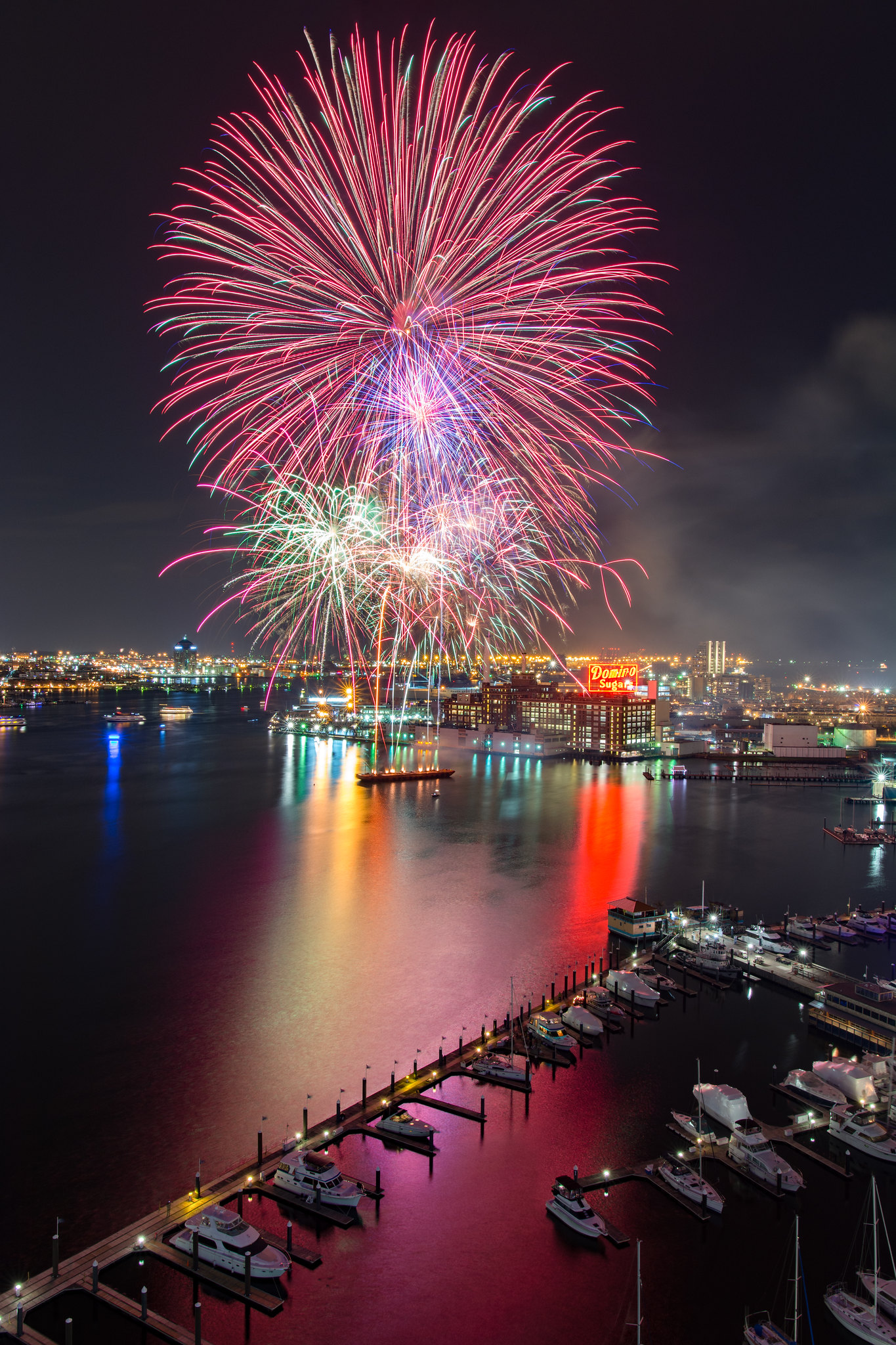 Baltimore City Fireworks, New Years Day 2016
