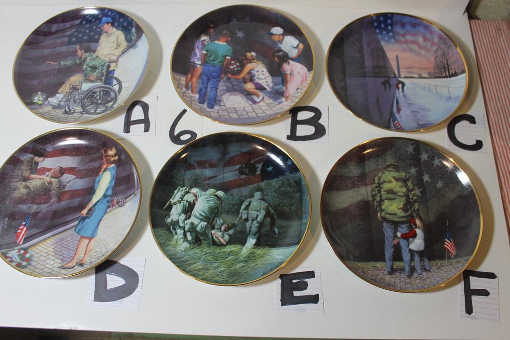 Collectable Plates Vietnam War Scenes | Franklin Mint plus O