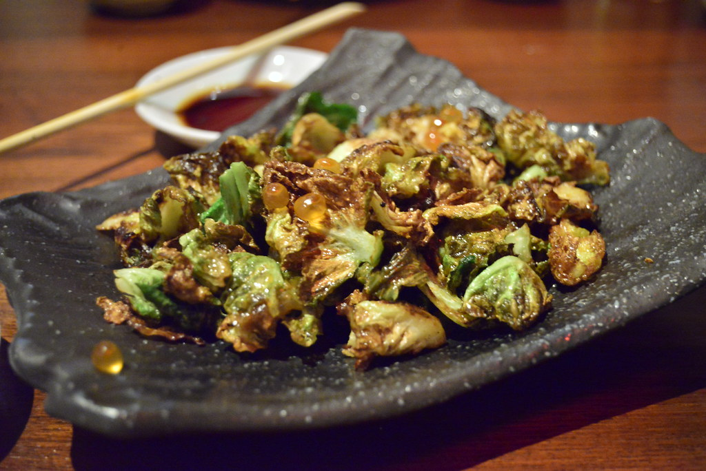 Brussel Sprouts with Ikura