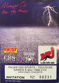 Concert de Midnight Oil à Toulouse, Palais des Sports, 5 mai 1990
