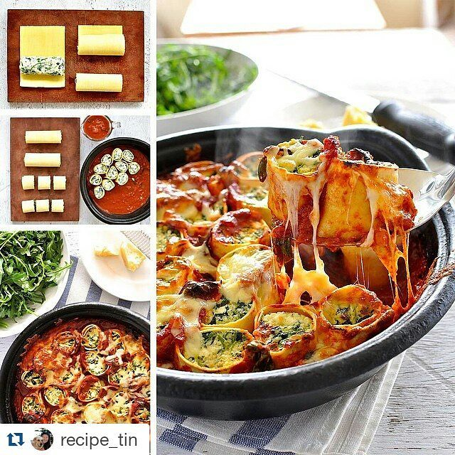 Don't you just love this? My inspiration for tonight's Cannelloni dinner with carrots and sausage 😍😍😍 #Repost @recipe_tin with @repostapp ・・・ 😋Dinner tonight: Spinach & Ricotta Rotolo....it's like cannelloni, but BETTE