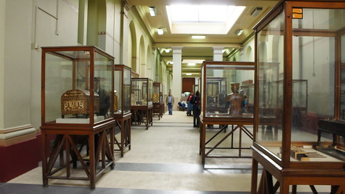Renovated King Tutankhamen's section at the Egyptian Museum