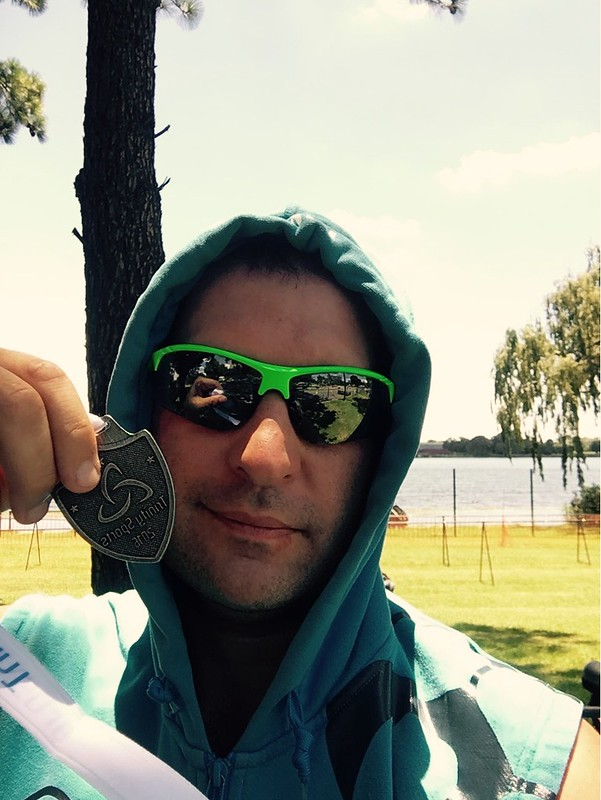 With my medal, after a fantastic 1st place for the 35-39 category!