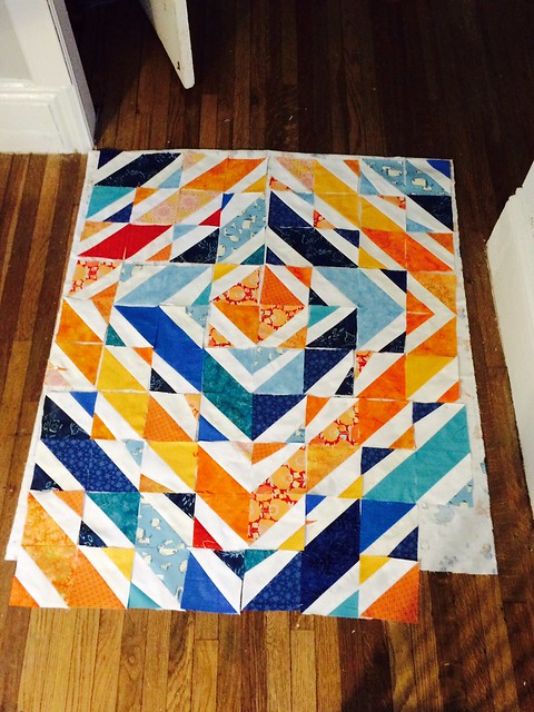 Improvisational baby quilt