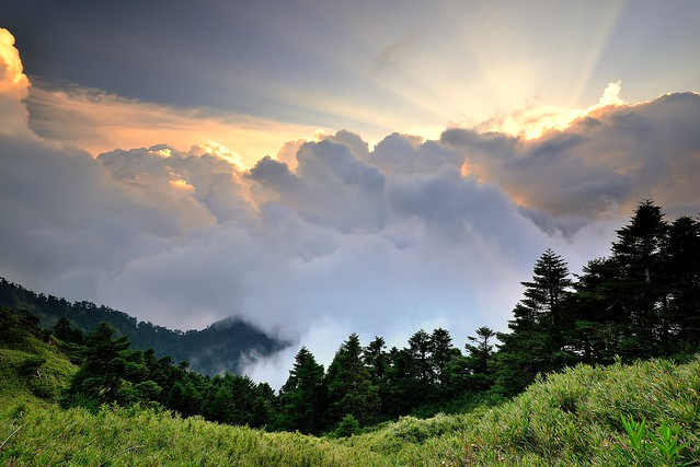 Sunset at Mountain Hehuan 合歡山