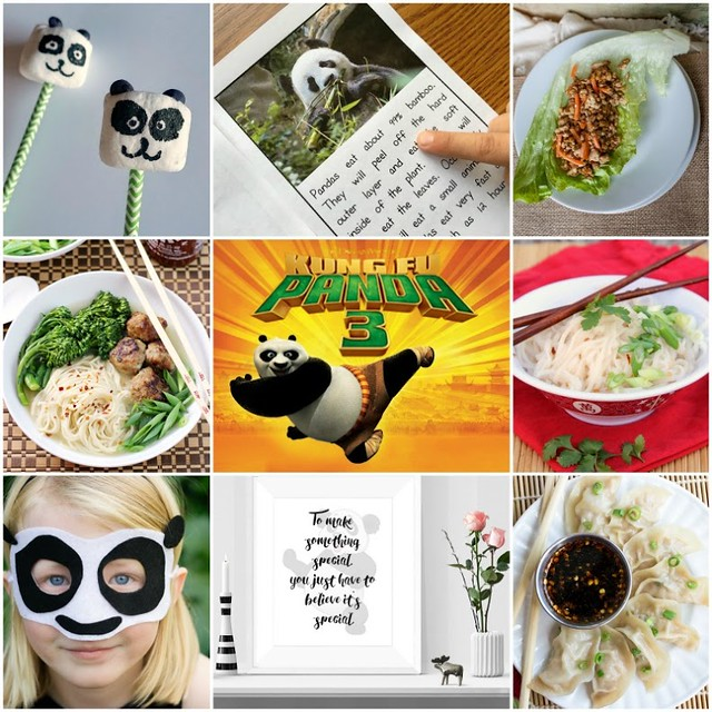 This Kung Fu Panda Noodle Soup collage.