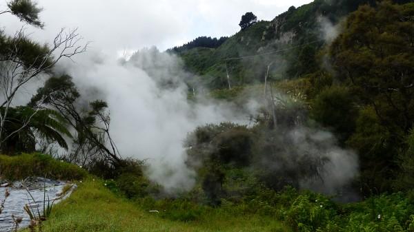 Centre thermal pas loin de Waiotapu