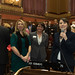 Rep. Rosa C. Rebimbas introduces Kim Kiernan, chair of the Naugatuck RTC, and Catherine Ernsky, vice chair of the PCSW and local business owner, during the opening day of the 2016 legislative session on Wednesday, February 3rd.