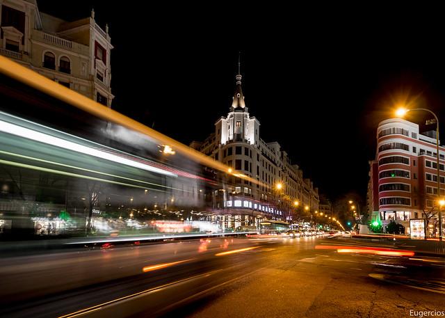 Cruce de Goya con Alcalá, Madrid. (Explore 07/02/2016)