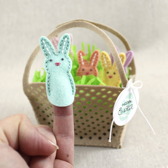 Bunny Finger Puppet Front