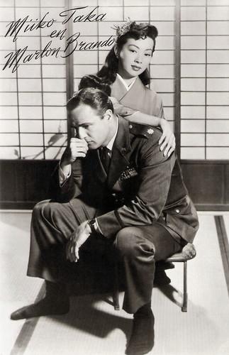 Marlon Brando and Miiko Taka in Sayonara (1957)