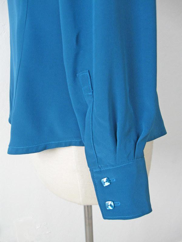 silk blouse cuff