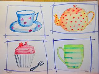Week 9 - Quick Watercolour Studies - Tea