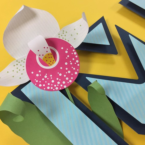 lady slipper paper flower sculpture