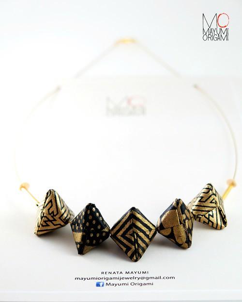 Mayumi Origami Bead Necklace