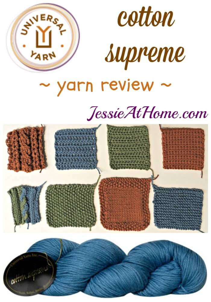 Universal Yarns cotton supreme yarn review from Jessie At Home