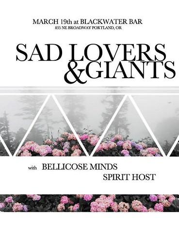 3/19/16 SadLovers&Giants/BellicoseMinds/SpiritHost