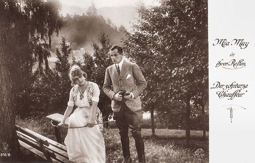 Mia May and Bruno Kastner in Der Schwarze Chauffeur (1917)