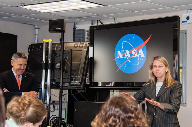 KSC Director Robert Cabana & NASA Deputy Administrator Dava Newman