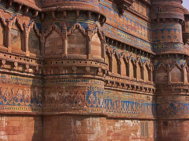 INDIEN, Fort Gwalior, herrlich verziert, 13598/6558