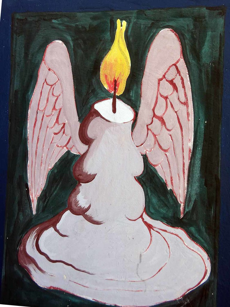 winged candle