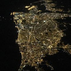 Over the top of Barcelona a couple of nights ago en route to Majorca