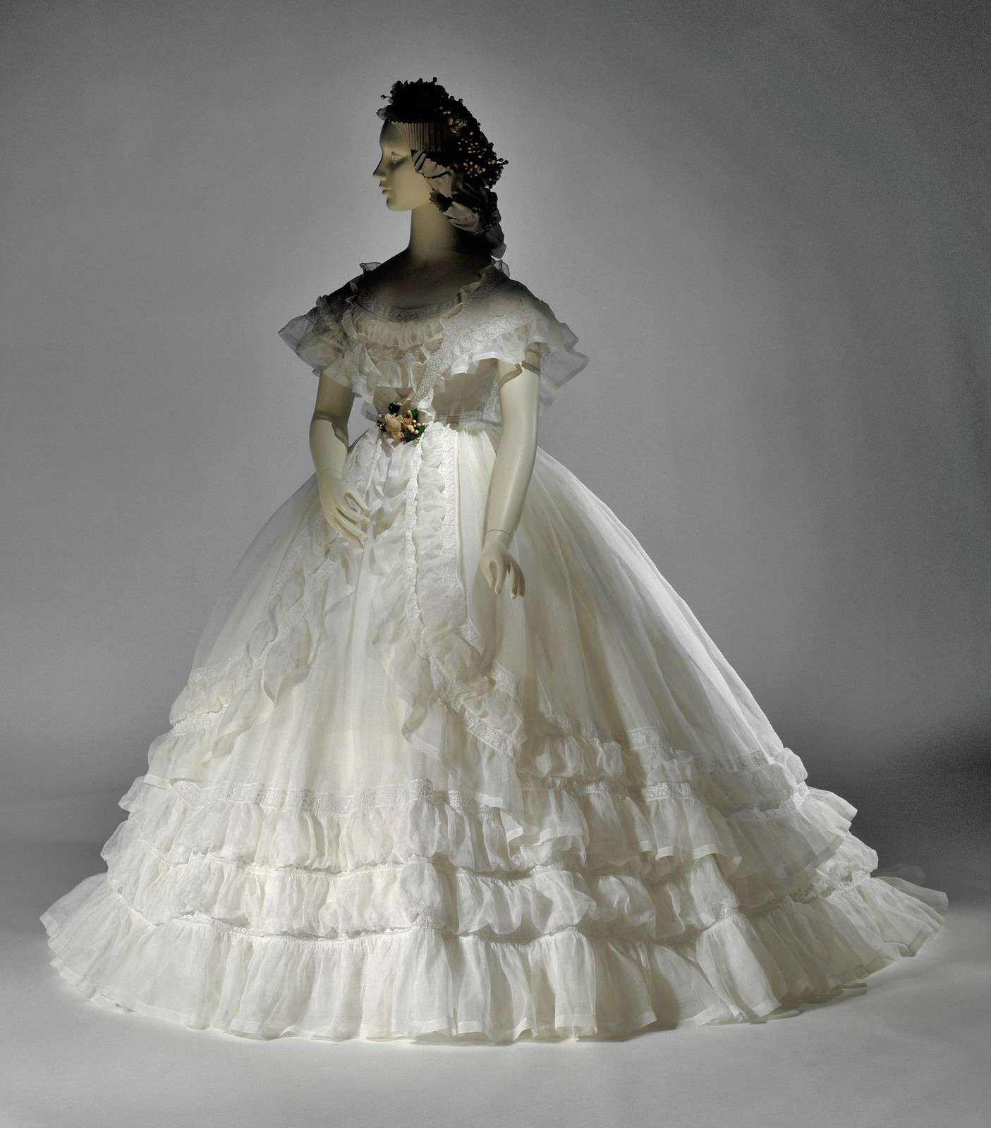 10 facts about the victorian tradition of white weddings 5 queen victoria sported the rounded shoulderline that enhanced the length of her necka look junglespirit Images