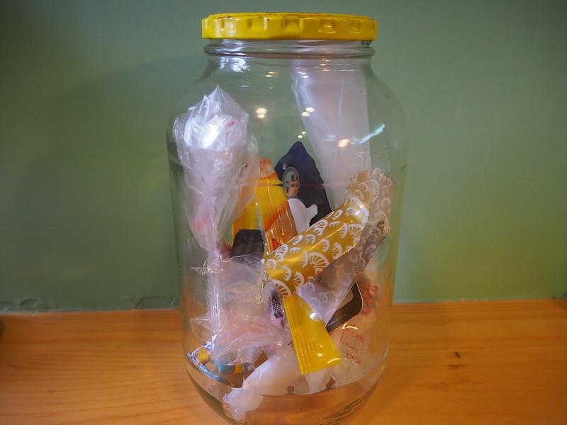 玻璃罐垃圾筒