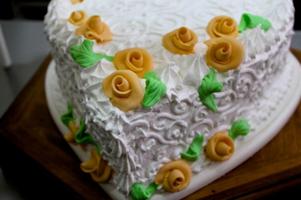 Torta para una boda de oro