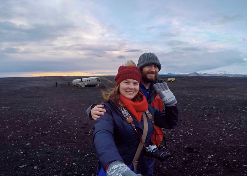 Amanda and Elliot in Iceland