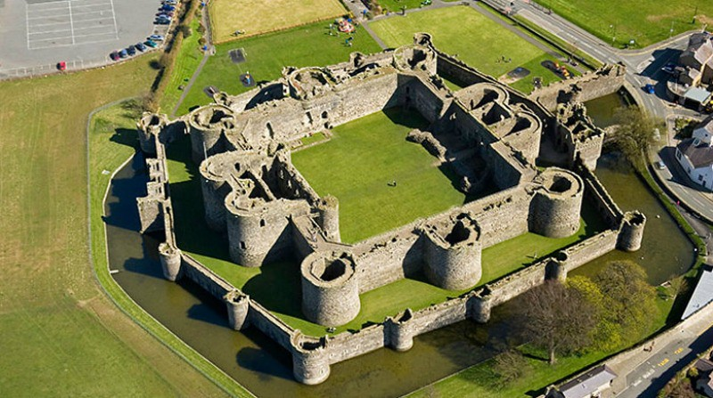 Beaumaris Castle © Crown copyright Royal Commission on the Ancient and Historical Monuments of Wales.