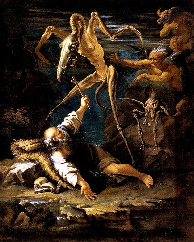 Salvator Rosa- The Temptation of Saint Anthony, second version, 1645
