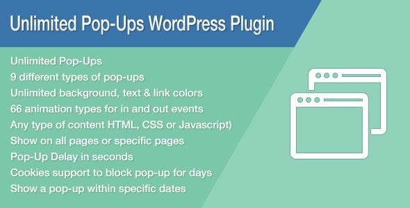 Codecanyon Unlimited Pop-Ups WordPress Plugin v1.4.3