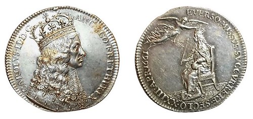 1661 silver coronation medal of Charles II