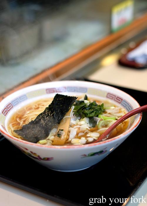 Soba noodles at Tachi Kui Soba Kimidzuka near Ikebukero Station, Tokyo