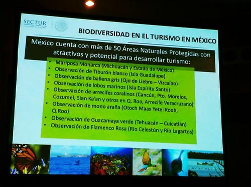 Biodiversidad en el turismo en México (Segundo Encuentro Nacional sobre Estrategias de Biodiversidad, Boca del Río - Veracruz, 2016) @conabio @SECTUR_mx @SDS_Morelos