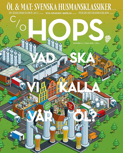 c/o Hops Magazine Cover and Editorial Illustration by Rod Hunt