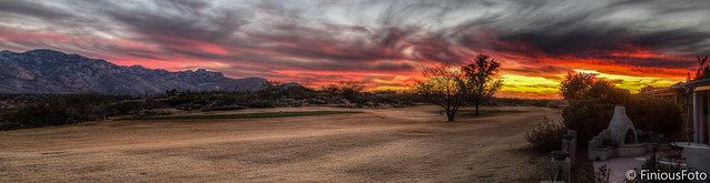 Tucson Sunset HDR Panorama 1/4 size