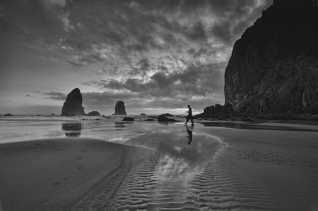 Cannon Beach, Stepping Out, Oregon, State