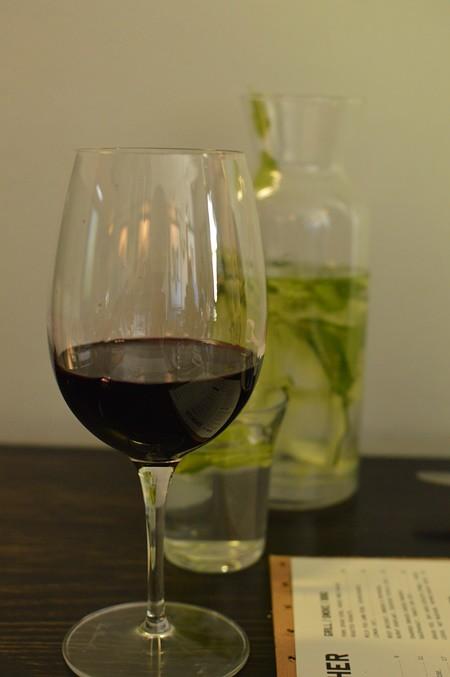 Glass of shiraz