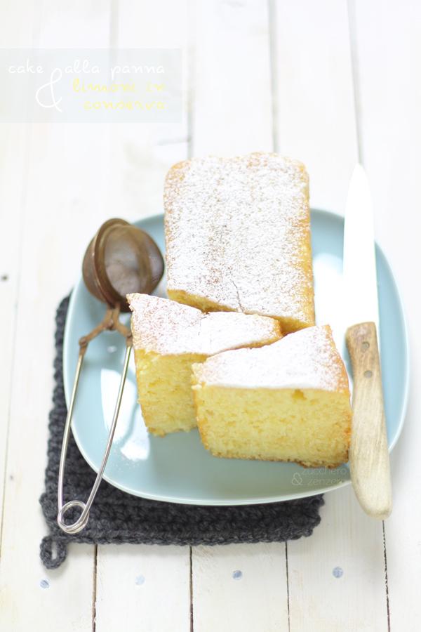 Cake alla panna e limoni in conserva