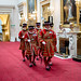 The Queen's Yeomen of the Guard march into the Ballroom, marking the start of the Investiture by The British Monarchy