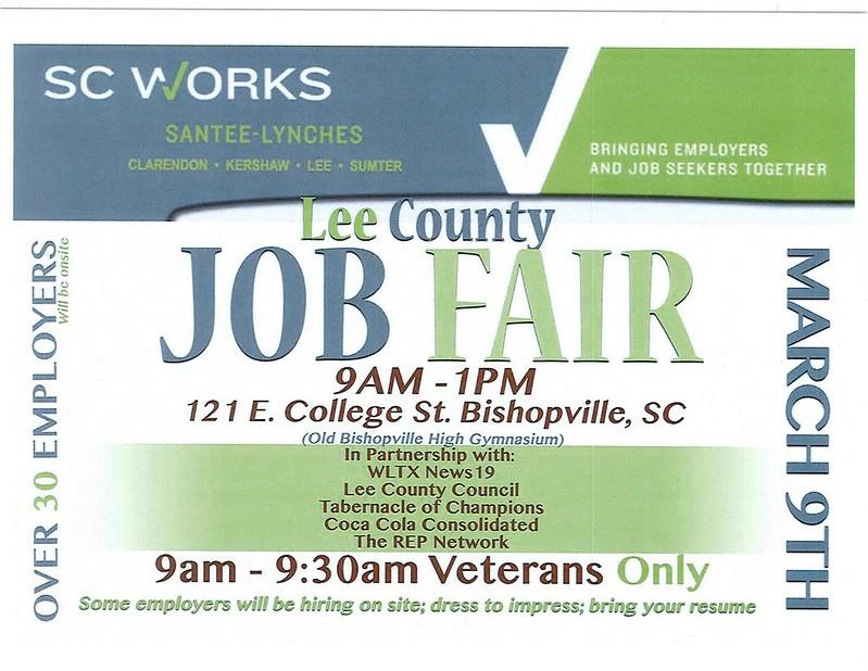 Lee County Job Fair flyer
